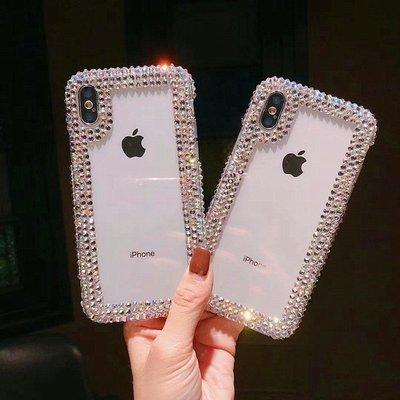 創意鑽邊框手機殼 奢華女款透明殼 Iphonex6 7 8 Plus X/Xr/Max 手機保護套 女款