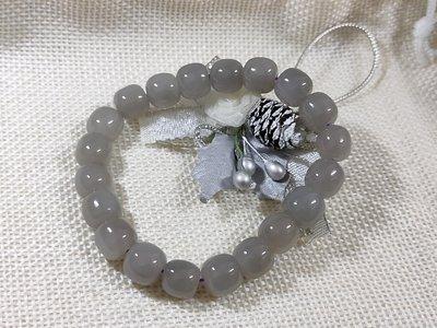 煙紫和田玉和闐玉老型珠手串手珠手鍊(9.5*8.5mm)精緻天然水晶寶石,配飾散珠DIY半成品轉運608牛手創