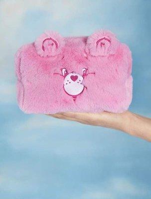 [SECOND LOOK]Skinnydip Care Bears 粉色毛毛 熊熊 大容量 化妝包