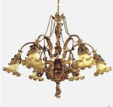 {美學}聖嘉柏諾歐式水晶燈樹脂客廳燈簡約臥室書房吊燈復古餐廳燈飾MX-2110