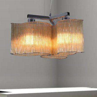 【58街燈飾-台中館】5燈款「Glass deformed 玻璃管炫窩吊燈」美術燈。複刻版。GH-527