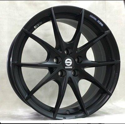 ╭☆輪鋪☆╯全新 (正) SPARCO MN609U 18吋5孔114.3 消光黑鋁圈-詢價