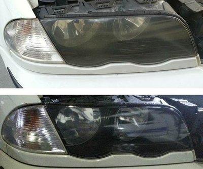 大燈快潔現場施工 BMW 寶馬 320I 323CI 328I 330CI 原廠車大燈泛黃霧化拋光修復翻新處理