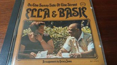 ELLA FITZGERALD &  BASIE ON THE SUNNY SIDE OF THE STREET 經典發燒爵士早期1984年西德無ifpi必備盤