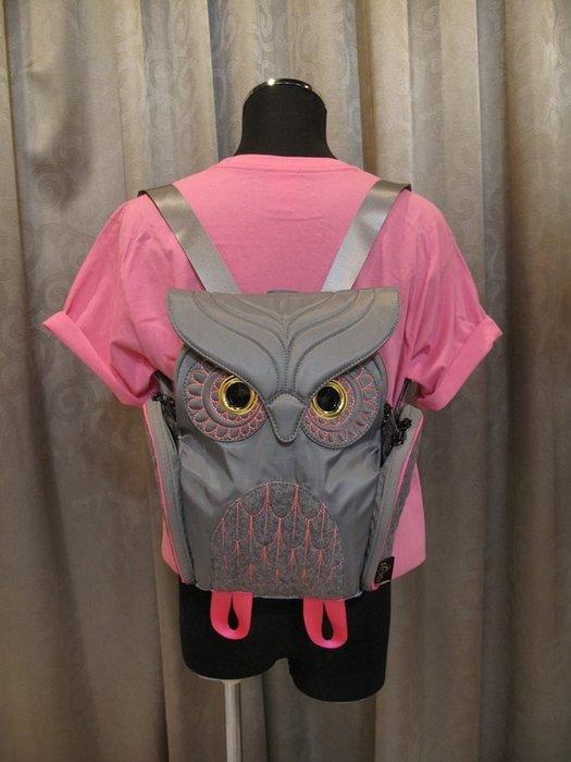 撞色貓頭鷹後背包(S) ,實品拍攝有店面,香港Morn Creations授權🌟最特別的禮物都在奧爾思🌟