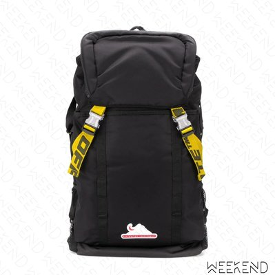 【WEEKEND】 OFF WHITE Equipment Backpack 後背包 黑色 20春夏