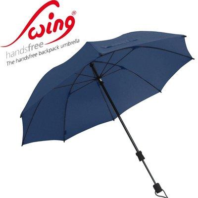 德國[EuroSCHIRM] 全世界最強雨傘 SWING HANDSFREE / 免持健行傘 大(深藍)