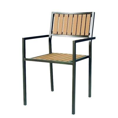 【紅豆戶外休閒傢俱】鋁合金塑木方背椅/餐桌椅/咖啡廳桌椅/戶外休閒家具/庭院休閒桌椅/戶外休閒傘