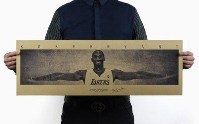 【貼貼屋】NBA 柯比之翼 KOBE 小飛俠 湖人 籃球 懷舊復古 牛皮紙 海報 電影海報