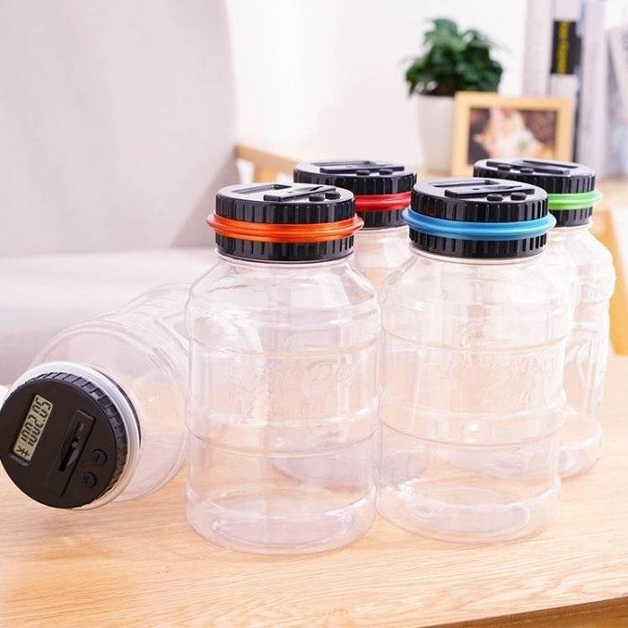 YEAHSHOP 透明存錢罐超大號計數創意兒童生Y185
