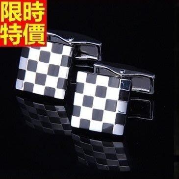 領帶夾組合含領帶夾+袖扣-父親節禮物歐美風格經典黑白男士配件飾品組66af14[獨家進口][米蘭精品]