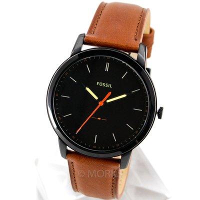 現貨 可自取 FOSSIL FS5305 手錶 44mm 大三針 黑色面盤 咖啡色皮錶帶 男錶女錶