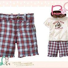 【B& G童裝】正品美國進口GAP紅藍格子格紋布短褲4yrs
