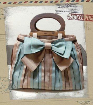 手工拼布包~時尚疊層手提包