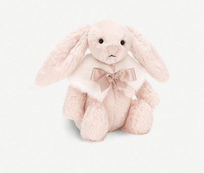 (預購)(兩色)英國 JELLY CAT Bashful Snow bunny plus toy 18cm 斗篷邦尼兔
