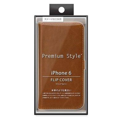 尼德斯Nydus~* 日本正版 PGA 皮革質感 皮套 手機殼 保護殼 翻頁皮套 iPhone6 4.7吋 深咖啡色