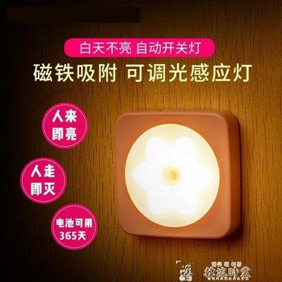 小夜燈LED光控人體感應燈床頭燈臥室聲控智慧自動起夜過道