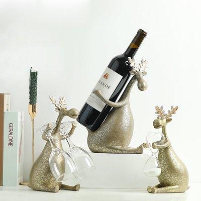 〖洋碼頭〗美式復古創意麋鹿酒架結婚禮物 室內電視櫃客廳酒櫃裝飾品擺件 bhm155