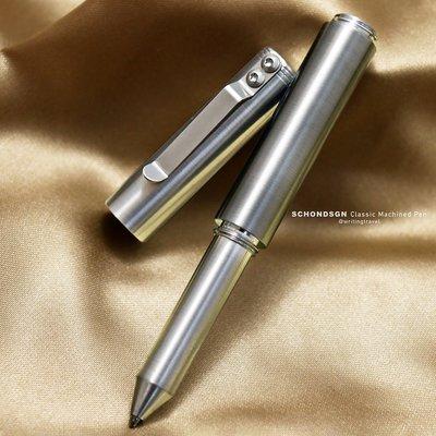 美國 Schon DSGN Classic Machined Pens 經典機械原子筆: 鋁/Aluminum