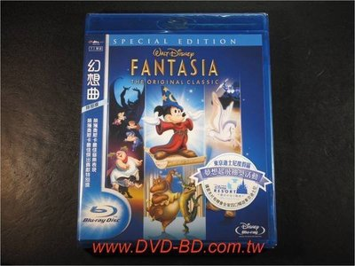 [藍光BD] - 幻想曲 Fantasia 特別版 ( 得利公司貨 ) - 迪士尼動畫音樂劇