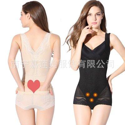 塑身衣 香妮美人計塑身衣連體內新衣薄款產后收腹拉鏈新束腰提臀后脫美體8037