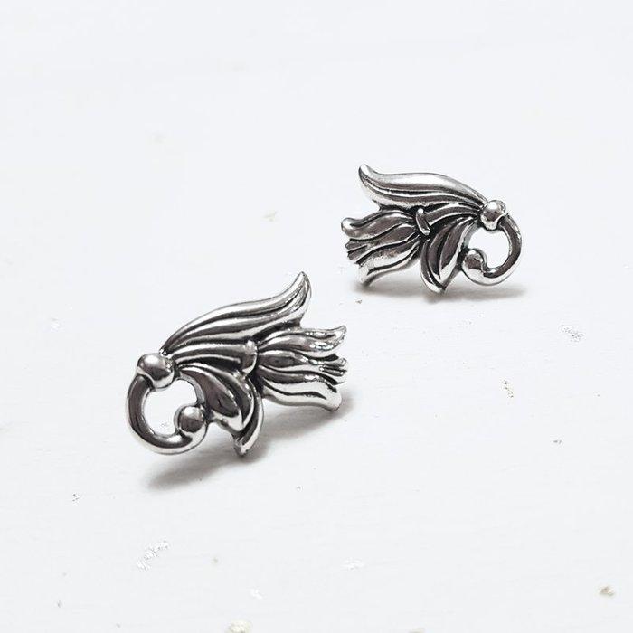 奧嘉精品工作室 Martina Olga 925純銀飾 復古歐風鬱金香造型耳環 歐美個性
