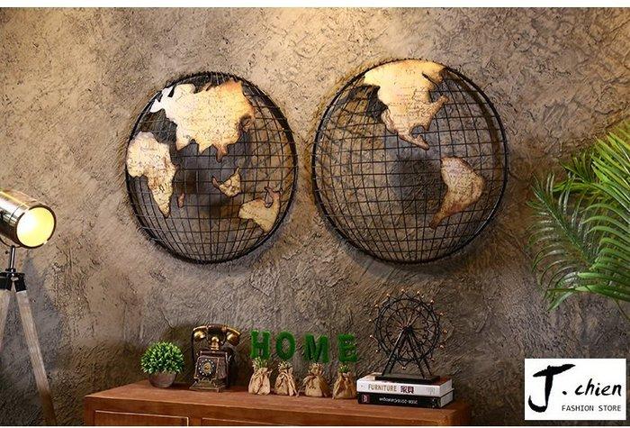 J.chien ~[全館免運]復古鐵器地圖 牆上掛飾 牆面裝飾品 工業風地圖裝飾品 辦公室玄關咖啡廳裝飾品