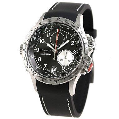 HAMILTON H77612333 漢米爾頓 手錶 42mm Khaki ETO 卡其航空系列 橡膠錶帶 男錶女錶