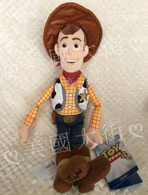 【美國大街】正品.美國迪士尼玩具總動員胡迪手抱娃娃胡迪絨毛娃娃 Woody 18吋 / 45cm