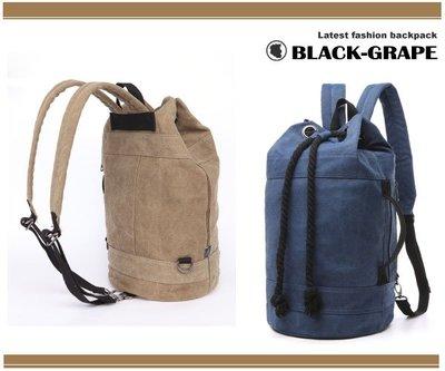 野戰個性拳擊洗水帆布後背包 / 拳擊包【B7142】黑葡萄包包