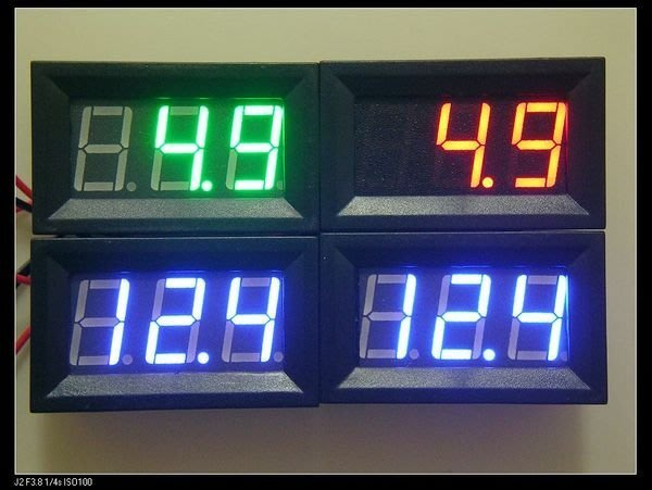 【大台北液晶維修】機車 汽車  數字電壓表  直流 4.5V-30V
