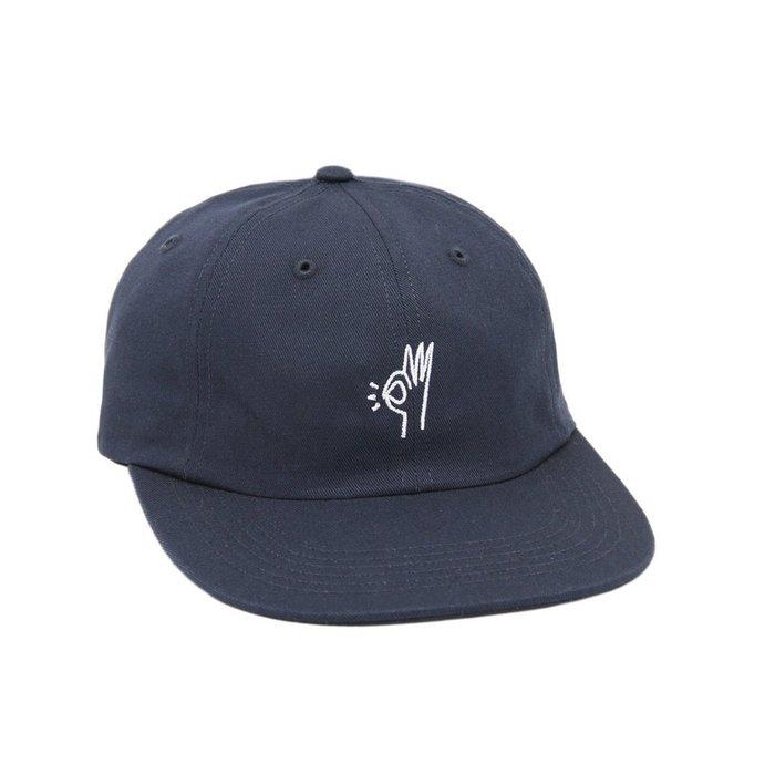 { POISON } ONLY NY OK POLO HAT 刺繡OK手勢 斜紋面料老帽棒球帽 美國製 深藍