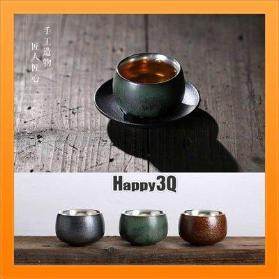 禪意茶道手工製作粗陶瓷杯茶具茶器禮盒組禮品長輩禮物-綠/金/黑【AAA1640】預購