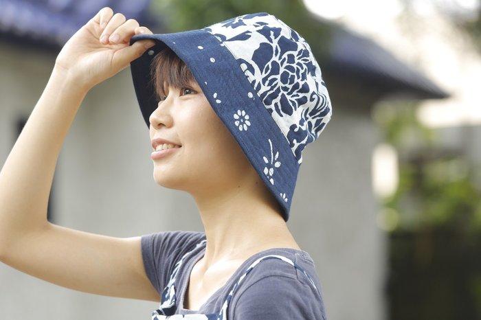 !!!!(((中國藍Anewei)))客家藍染手工雙面漁夫帽~F到貨~遮陽 防曬 雙面可用 好收納