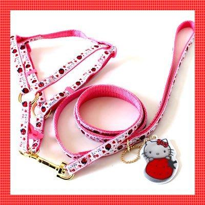 貝果貝果 日本pet paradise 代理 Hello Kitty 造型可拆式胸背帶 [A1212]