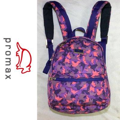 低價起標~ 法國運動品牌 PROMAX帆布雙肩包 後背包 迷彩休閒包 似貝里Prada囧包MK芙拉Agnes b