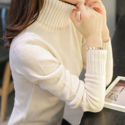 秋冬新款针织衫女装套头韩版高领毛衣女打底衫长袖加厚短款修身