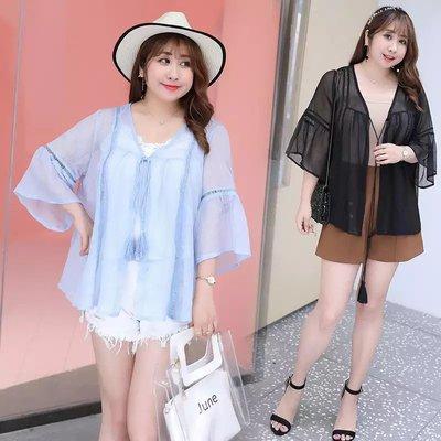 ✿plump girl 韓系✿中大尺碼女裝孕婦裝防曬服外套2919