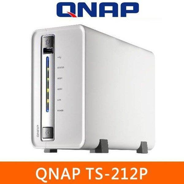 5Cgo【權宇】QNAP TS-212P 搭載 QTS 4.0 免CD雲端安裝iOS或Android 含稅 會員扣5%