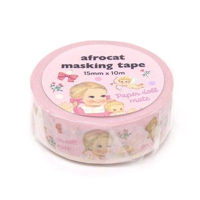 ❅PAVEE❅ 韓國afrocat~ Masking Tape 和紙膠帶~ 02 復古洋娃娃 Julie