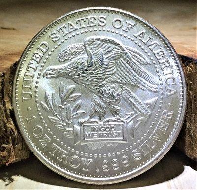 «自由銀»Northwest Territorial Mint- Trade Unit 貿易單位銀幣 (1 toz)