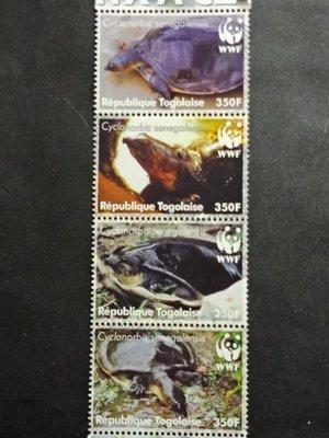 【 黑白宇宙 】2006年多哥 龜鱉郵票4全WWF