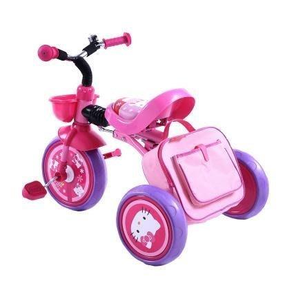 凱蒂貓KT貓可折疊兒童三輪車腳踏車1 2 3 4 5歲嬰幼兒寶寶自行車