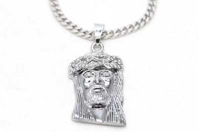 Cover Taiwan 官方直營 進口 嘻哈水鑽 電鍍 銀項鍊 耶穌頭 ALL GOLD CHAIN 2 Chainz