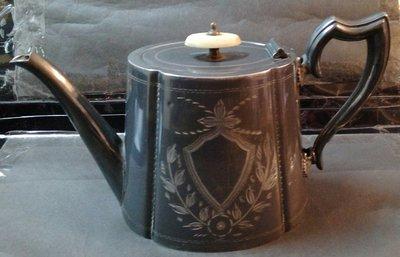 232 高級英國維多利亞不列顛壺Antique Silver Plate Tea Pot