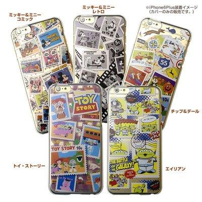 尼德斯Nydus~* 日本迪士尼 郵票 漫畫風 米奇 米妮 玩具總動員 三眼怪 5.5吋 iPhone 6+ Plus