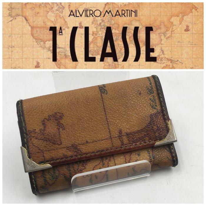 【皮老闆二店】二手真品 ALVIERO MARTINI 地圖 錢包 皮夾 鑰匙包 L402