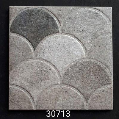[磁磚之嘉] 30*30 庭園磚 扇形復古磚 灰色