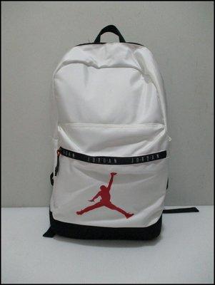 【喬治城】Nike Jordan 運動後背包 白色 內附NB夾層 9A0207-001 原廠公司貨