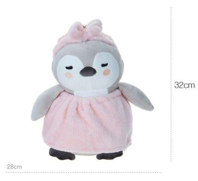 【預購】【韓國代購】韓劇愛的迫降韓國BUTTER粉紅浴袍企鵝娃娃 28cm X 32cm